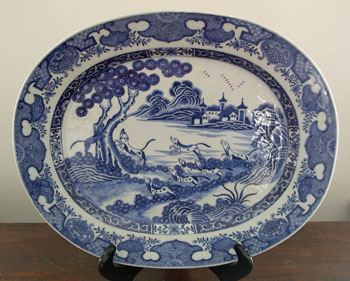 Chinese Export Hunt Platter