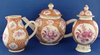 Chinese Export 3 Piece Tea Service