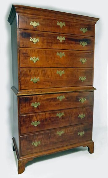 Bold Tiger Maple Chest on Chest