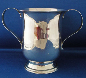Silver Double Handled Mug
