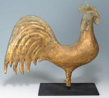 Full Bodied Rooster Weather Vane