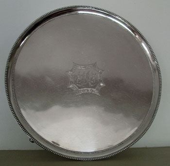 A Very Large Salver by Hester Bateman
