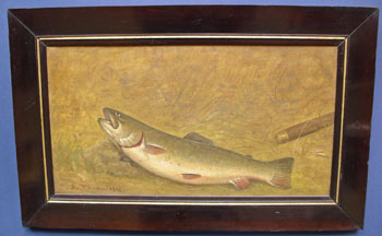 O/C of a Brown Trout signed A. Warren dated 1908