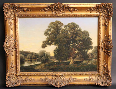 The Great Oak in the Meadows by Henry Pember Smith