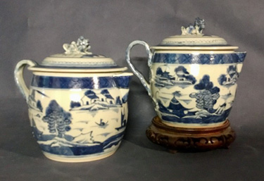 Pair of Canton Cider Jugs