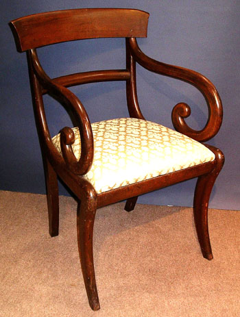 Classical Mahogany Arm Chair