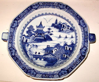 Blue and White Warming Dish