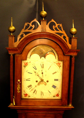 New Hampshire 8 Day Tall Clock  Att. to Silas Parsons