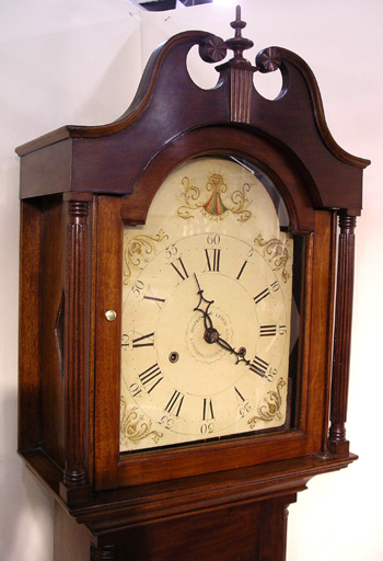Hopkins and Lewis 8 Day Wooden Works Tall Clock