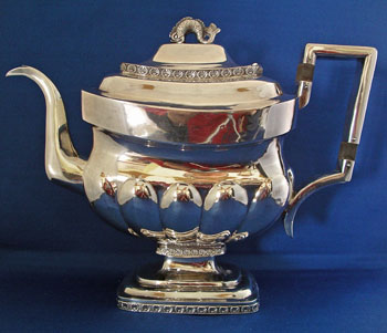 American Silver Tea Service By William Thompson, New York