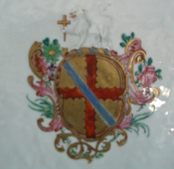 PAIR of Chinese Armorial Platters Arms of Trimnell