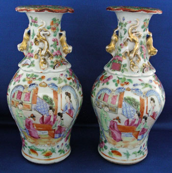 A Pair of Mandarin Vases