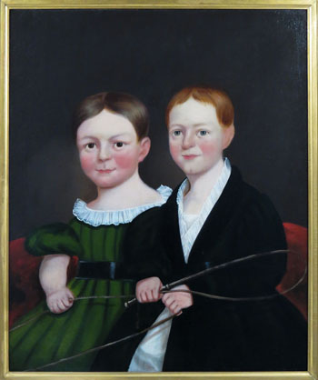 O/C Portrait of Two Young Children from the Norton Family