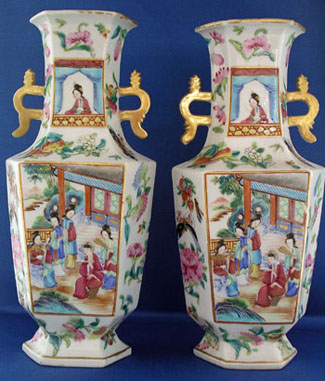 A Fine Pair of Mandarin Vases