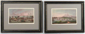 A Pair of China Trade Port Paintings