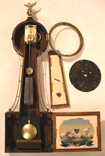 T-Bridge Banjo Clock with Naval Battle Tablet