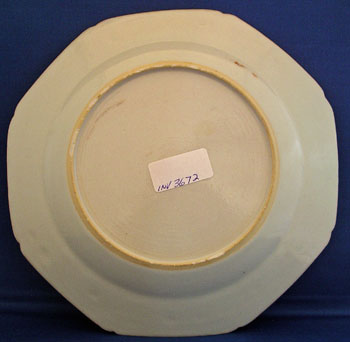 Chinese Export Dinner Plate Bearing the Arms of Renny