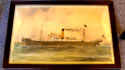 Port Painting of the SS Kerkenna by F. Porcuz