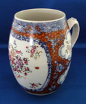 Chinese Export Famille Rose Barrel Form Mug