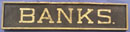 Large BANKS Sign, Perfect for the Antique Bank Collector