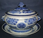 Blue Fitzhugh Soup Tureen and Liner