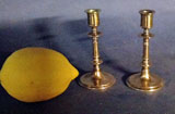 "Pair of Mid Drip Taper Candlesticks 3 3/4"" high"