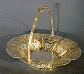 Chinese Export Sterling Silver Cake Basket